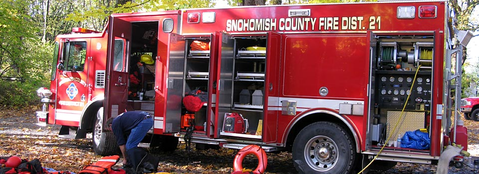 Snohomish County Fire District 21 rescue truck